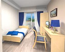 横須賀市佐島のリゾート型有料老人ホーム「アシステッドリビング湘南佐島」1F居室