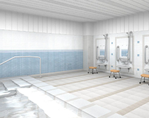横須賀市佐島のリゾート型有料老人ホーム「アシステッドリビング湘南佐島」1F浴室