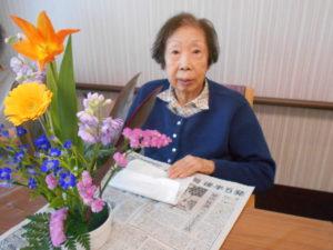 """""""川越です""""3月「生け花レクリエーション」です。"""